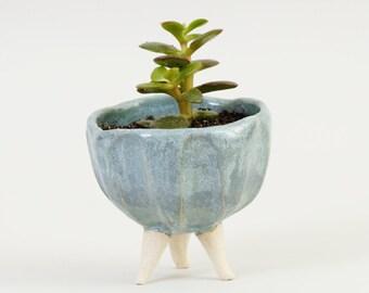 Turquoise Blue Ceramic Planter Modern Ceramics Pottery Planter ~ Ceramic Plant Pot Ceramic Bowl Cactus Planter Succulent Pot Gifts For Men