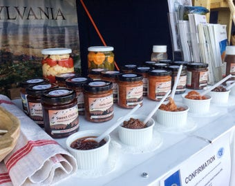 Handcrafted Jams and Chutneys Made in Transylvania ~ Food and Drink ~ Foodie gifts ~ Handmade gifts by Pivnita Bunicii #TasteTransylvania