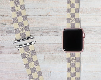 louis Vuitton Apple watch Band Vuitton apple watch strap LV Logo Apple band leather apple watch LV band 42mm 38mm Iwatch band leather iwatch