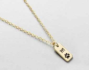 Pet Memorial Gift, Paw Print Charm, Pet Jewelry, Dog Paw Necklace, Pet Memorial, Cat Necklace, Animal Lover Necklace, Furbaby Paw