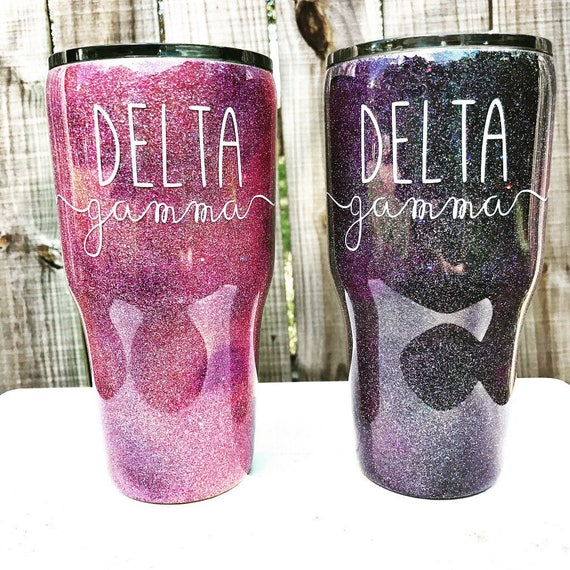 Galaxy Glitter Yeti Customized Tumbler Monogram Decal
