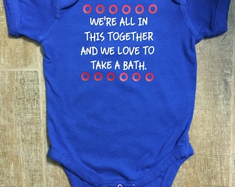 Phish inspired bathtub gin fishman donut baby Bodysuit