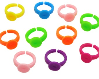 10 blank ring 14 mm multicolor br028 PVC special child