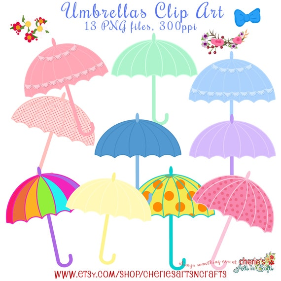 Umbrellas Clip Art, Baby Shower Umbrellas, Baby Shower Clip Art, Digital  Scrapbooking, Umbrellas Graphics, Digital Downloads, Cute Cliparts From ...