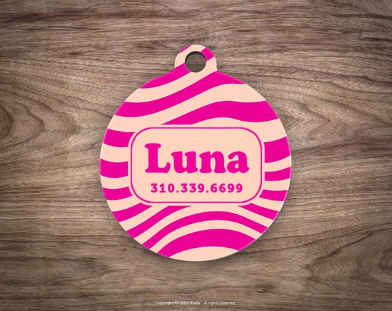 Pink Dog Tags for Dogs Dog Tag for Collar Cute Pet ID Tag Custom Dog Name Tag Puppy Tag Personalized Dog ID Tag Custom Pet Tag for Dog