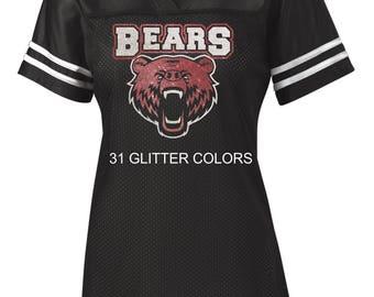 Women's Glitter Bling Bears mesh jersey