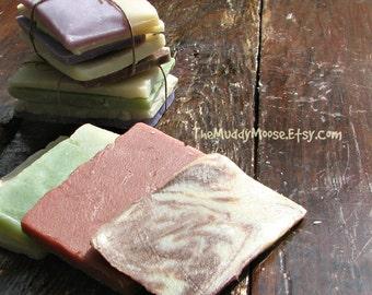 Soap Sampler, Soap Variety Pack, Soap Samples, Soap Slices, Soap Ends, Soap Odds and Ends.