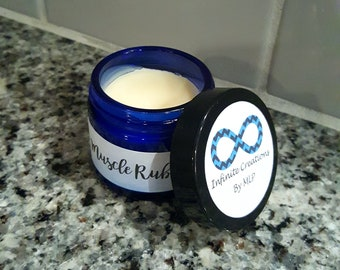 Muscle rub salve made with all natural ingredients
