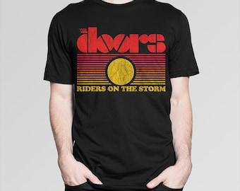 The Doors \u0027Riders On The Storm\u0027 T-shirt Men\u0027s Women\u0027s ... & The doors t shirt | Etsy