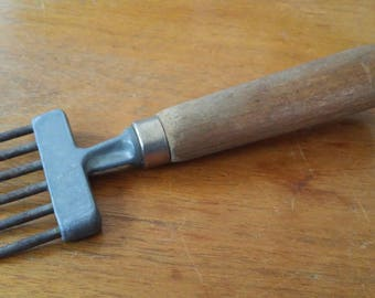 Antique Ice Pick  Chipper Wood Handle