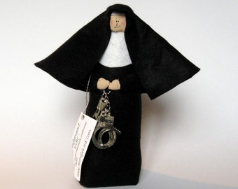 Nun doll Catholic gift police officer law enforcement sister