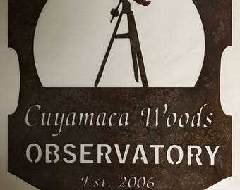 Personalized, metal sign with TELESCOPE and your name
