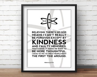 Atheist Poster Quote - Science Art, Geek Posters, Atheist Print, Wall Art, Scientist Poster, 18x24 Poster