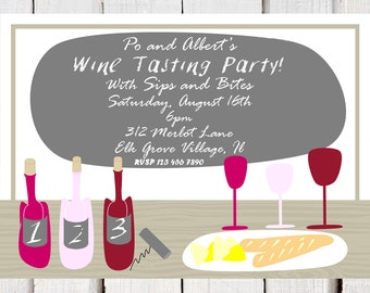 Wine Tasting set, invitation and placemat ,wine tasting score card, Wine Cheese party invitation, wine tasting shower and Bachelorette party