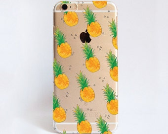 Transparent PINEAPPLE phone case design for iPhone Cases,  Samsung Cases, Google Pixel Cases and One Plus 5 Cases