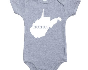 West Virginia Home State Unisex Baby Bodysuit One Piece - Boys or Girls
