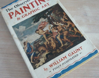 The Observer's Book Of Painting & Graphic Art 1958 Edition Pocket Guide Retro Vintage Mid Century