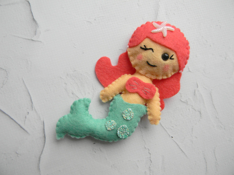 Filz Meerjungfrau Ornament Meerjungfrau Kinderzimmer