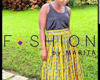 Akara/African print Maxi Skirt