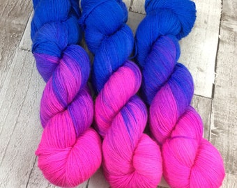 Hand dyed sock yarn superwash merino/nylon 'Evolution' shawl yarn/wool /hand painted/ uk dyer