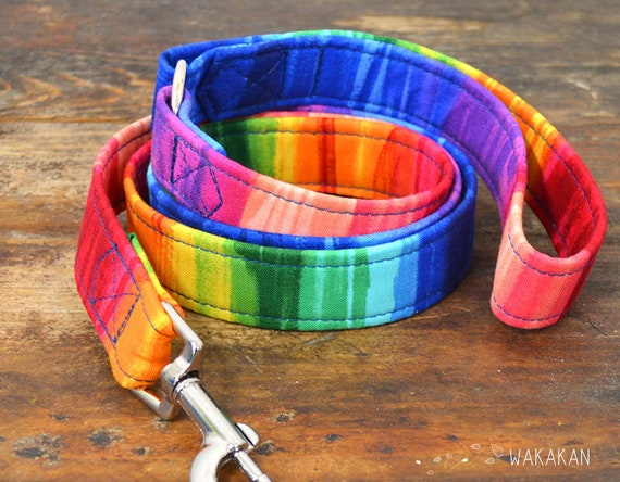 Leash for dog Paint. Handmade with 100% cotton fabric and webbing. Two width available. Wakakan
