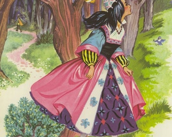 Vintage Children's Image (1987): from Snow White. Fairy Tale. NOT A BOOK.
