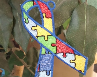 Autism Awareness Ribbon  Ornaments - Putting the Pieces Together