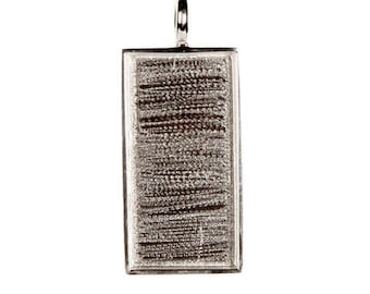 Bezel Pendant - Rectangle - Silver - 31.5 x 19 x 2mm – 24901012-00