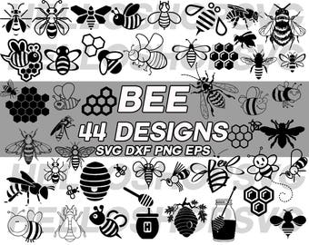 bee svg, insect svg, cute bee, cartoon bee, bee nectar, nectar, honey, honeycomb, bumblebee, clipart, silhouette, cut file, stencil