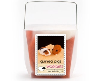 Guinea Pigs Needle Felting Kit
