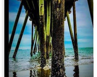 Virginia Beach Fishing Pier Canvas - Jessica Mason Photography