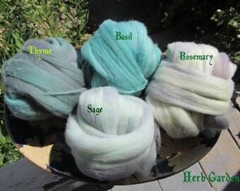 Starsheep Merino Sock Batts: Herb Garden