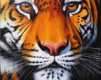 "Tiger painting oil painting on canvas 40""X40"""