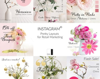Social Media Layout Templates for Instagram(c) - Pretty Posts