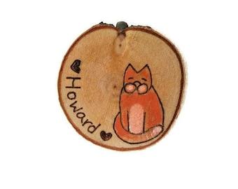 custom cat magnet, cat magnet, custom pet magnet, kitty magnet, kitten magnet, my pet magnet, wood magnet, pet wood magnet, cat lover gift