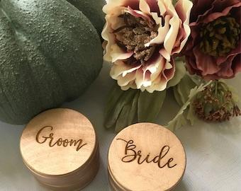 Bride & Groom ~ Ring Boxes ~ Proposal Box ~ Gift ~ Wedding ~ Ring Bearer ~ Custom