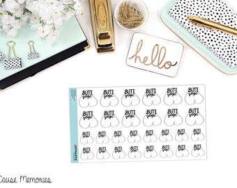 BUTI YOGA INSPIRED Functional Paper Planner Stickers