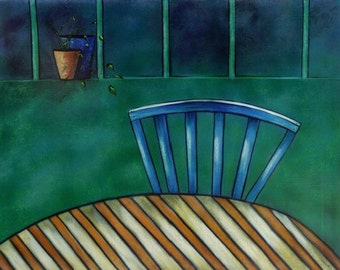 Table for One Limited Edition Giclee Art Print