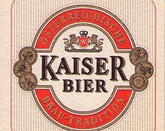 100 Kaiser Bier from Austria Beer Coasters / Beer Mats Sealed in Original Packaging - Mint