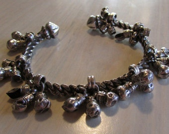 Sterling Silver Bracelet with Silver Dangles