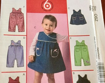 McCalls 5166 Infant Jumper and Overalls | Pattern size Newborn to Large | uncut
