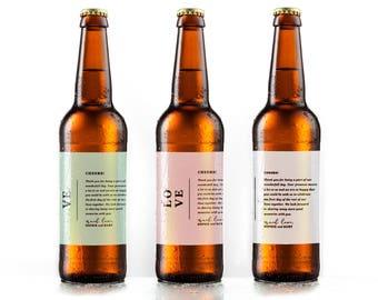 Beer Label Template Etsy - Beer bottle label template