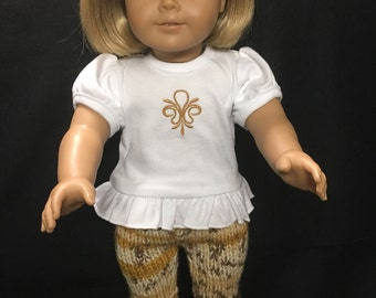 Hand Knit Pant Outfit for American Girl Dolls