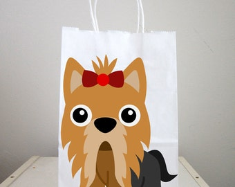 Puppy Goody Bags, Dog Goody Bags, Puppy Favor Bags, Dog Favor Bags - Yorkie Goody Bags 92171216P