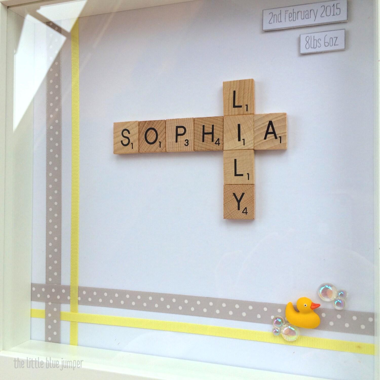 Name frame personalised scrabble style art zoom jeuxipadfo Choice Image