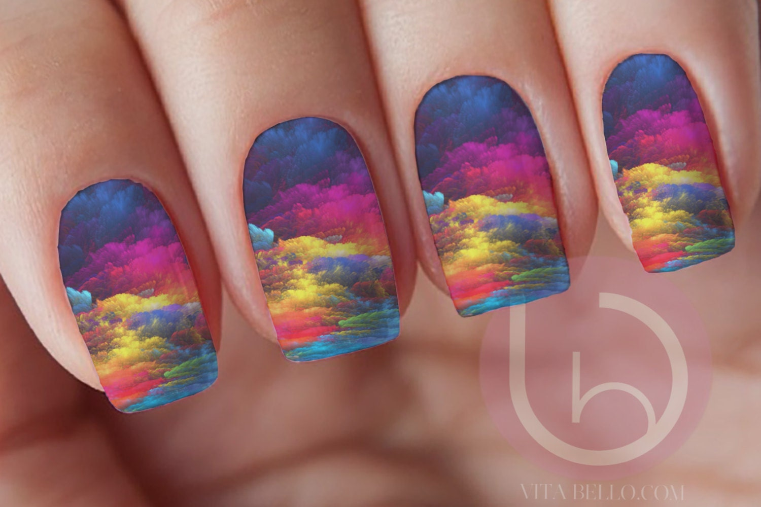 Water Color Nail Decal,Waterslide Decal, Nail art, Nail Design from ...