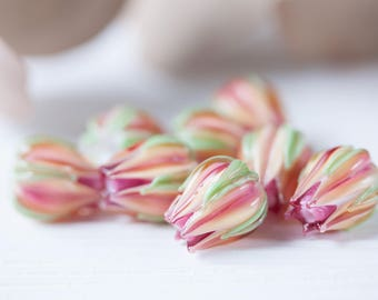 Lampwork Beads, Floral Beads, Lampwork Flowers, Beads for Jewelry, Beads for Earrings