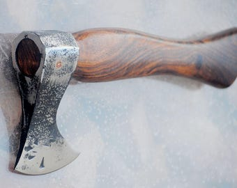 custom hand forged Single Bit viking  style mini throwing  Axe stainless steel