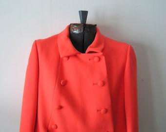 Vintage Coral Colored Jackie O// Mad Men Style Nat Kaplan Dress and Jacket
