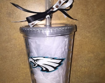 Football tumblers. super bowl birthday Christmas gift